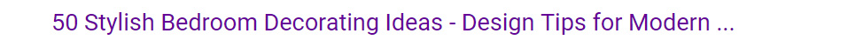 A title in Google search about bedroom styling