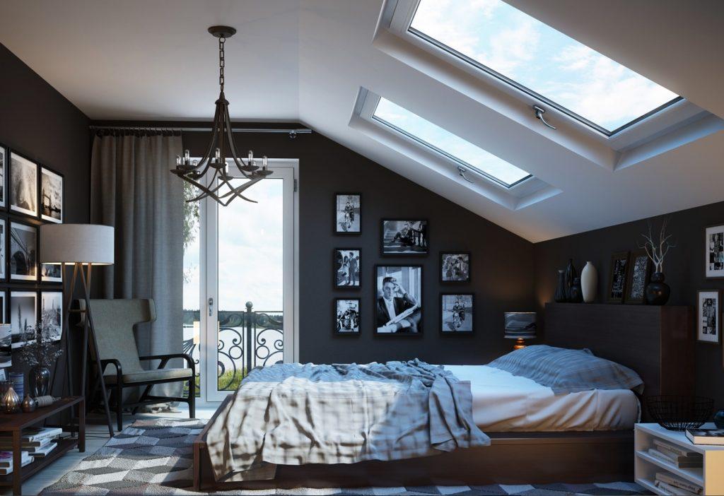 Bedroom and Artwork by Yury Rybak