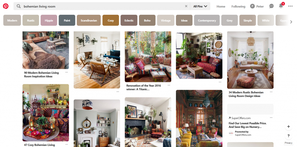 Bohemian rugs on Pinterest