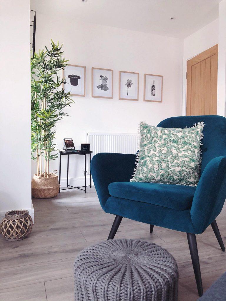 A beatiful accent chair