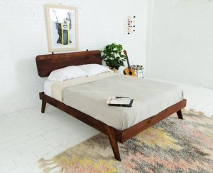 Modern Walnut Bed Frame