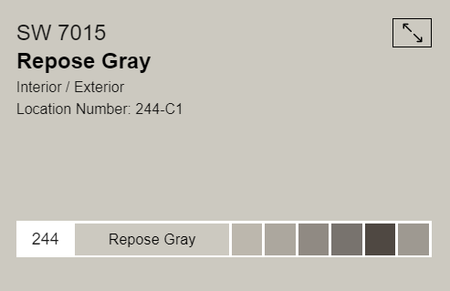 Sherwin Williams  - Repose Gray