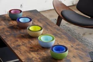 Local Art Glass Bowls