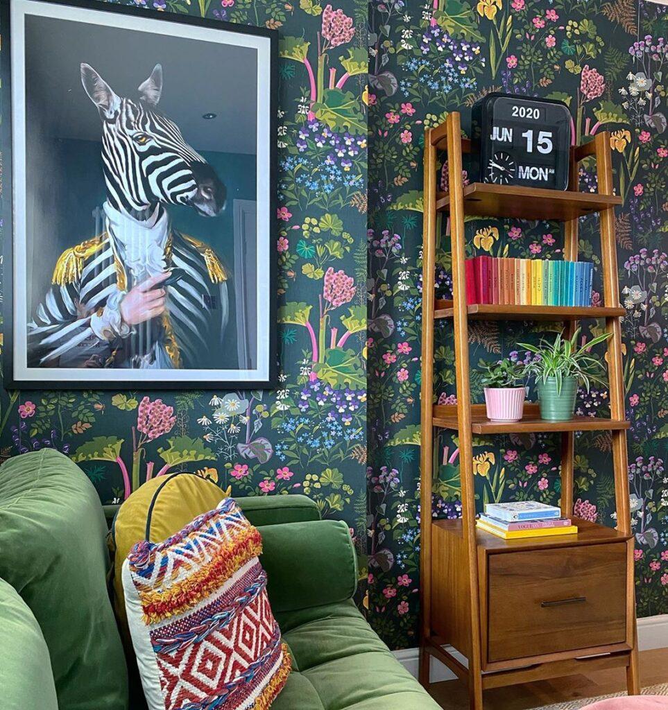 eli at home zebra art