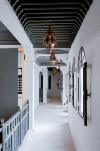 Hallway with mirrors