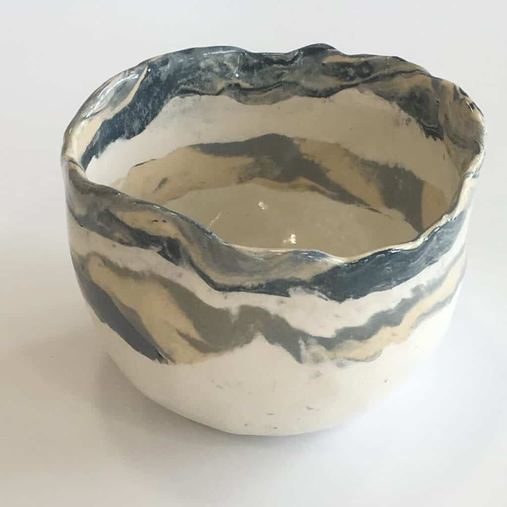 Nature Design Pottery marble bowl