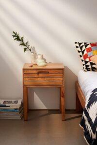 Wooden nightstand