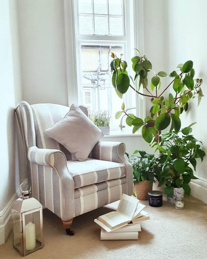 Stripey armchair