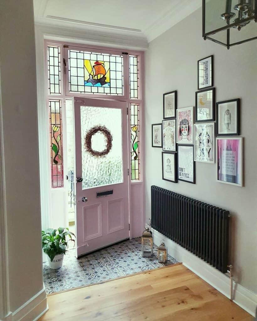 Entryway looking through an open door