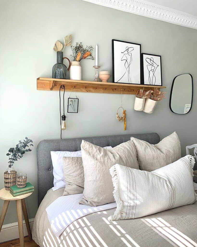 bed with accent cushions