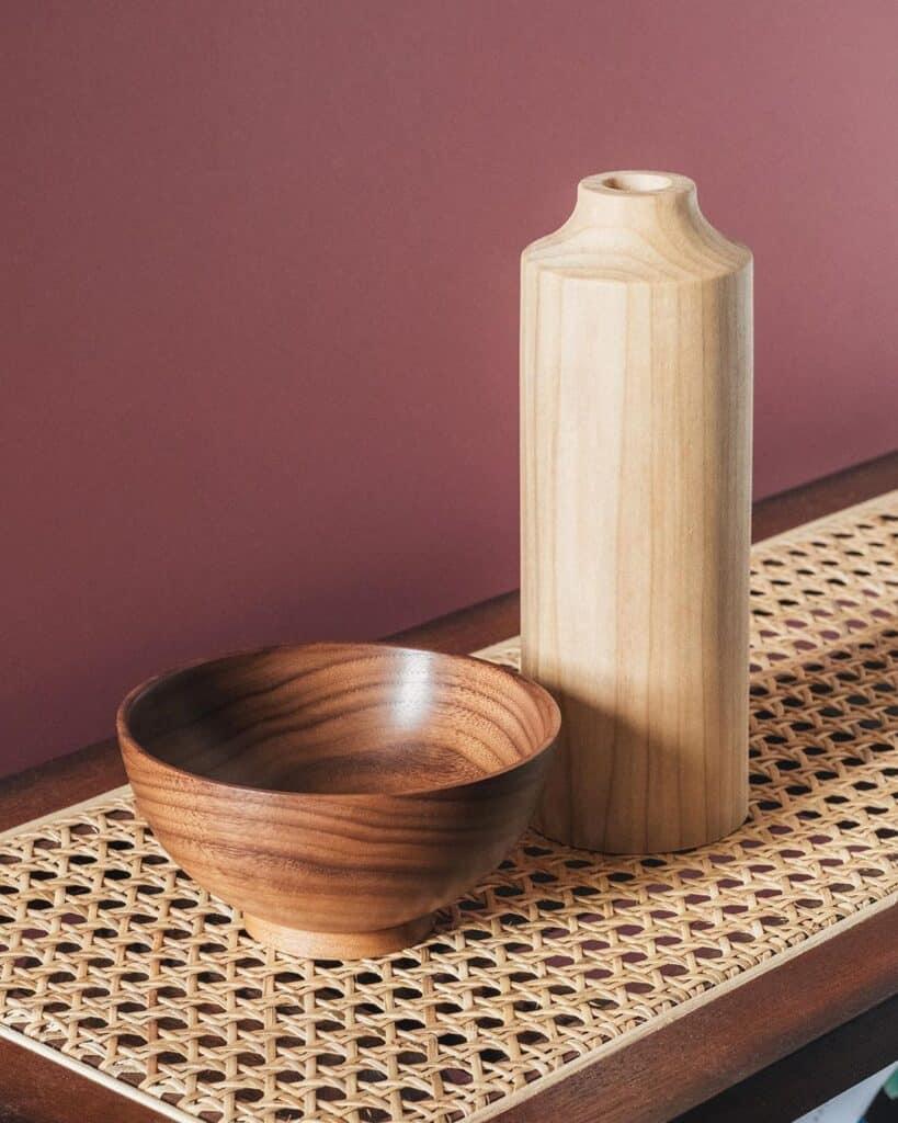 Jonathan Renton - American walnut bowl and a tulip wood vase