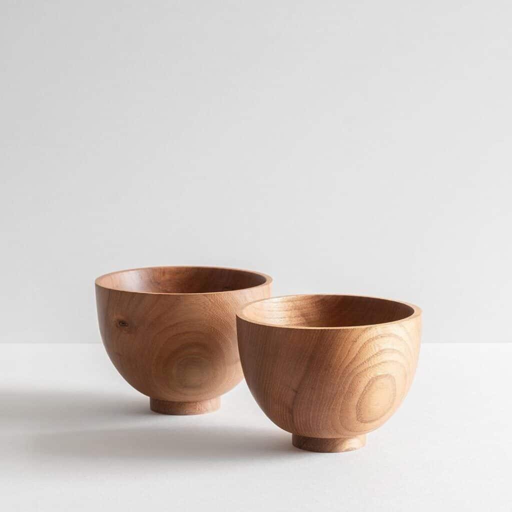 Jonathan Renton - Two handmade Elm cups