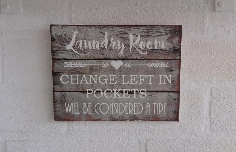 a new wooden wall hung sign in the shabby chic style