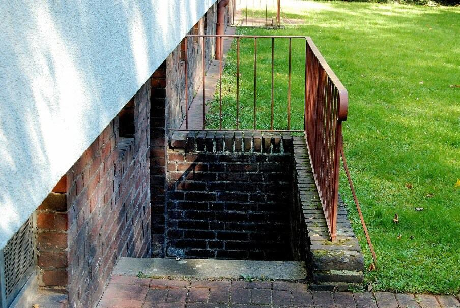 steps leading down to a basement