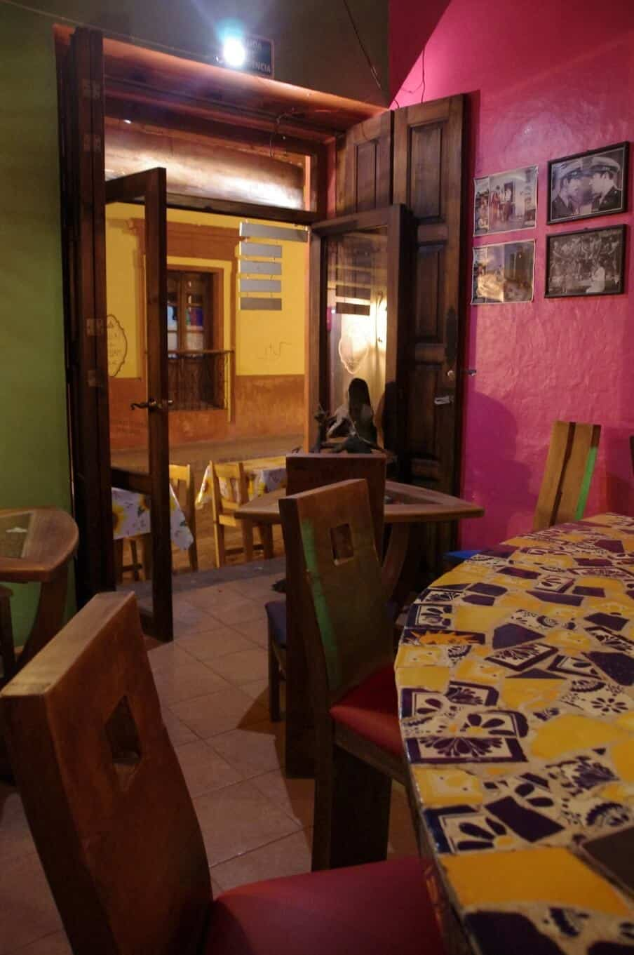 a mexican cantina type setting