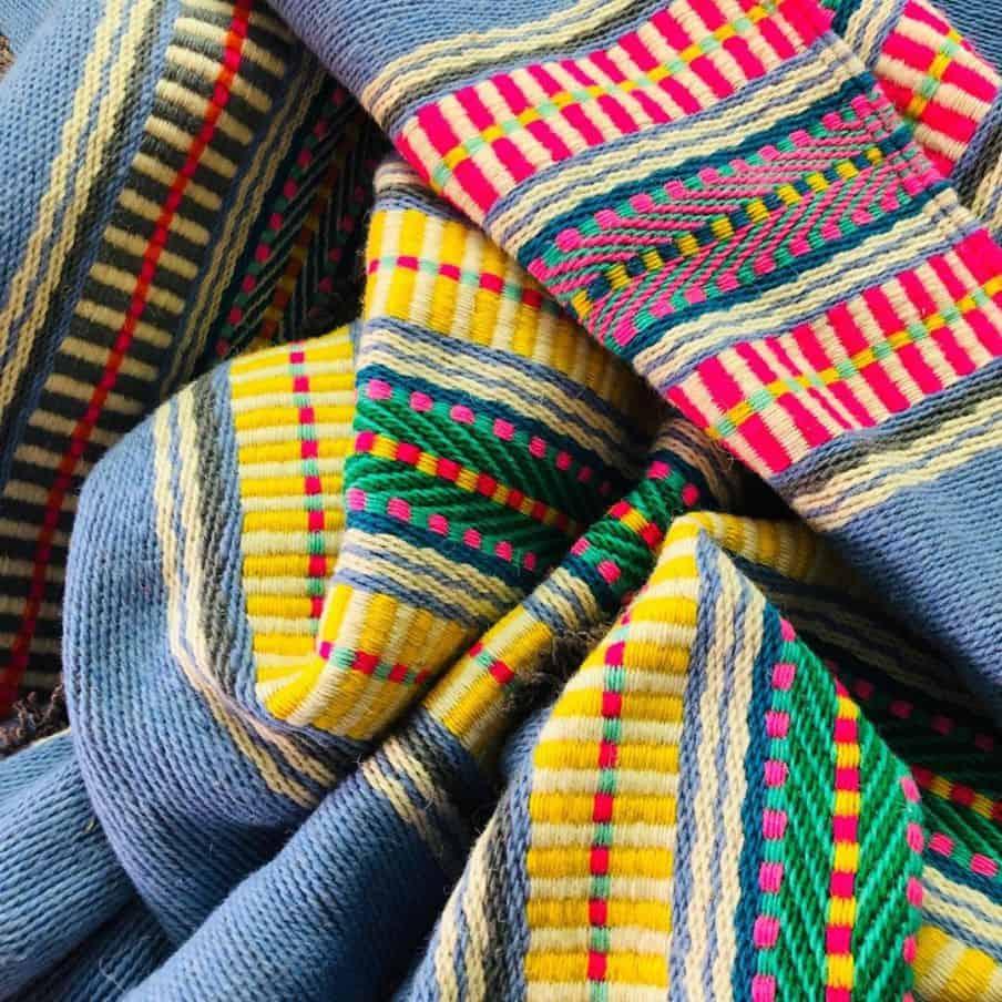 multicolored merino wool