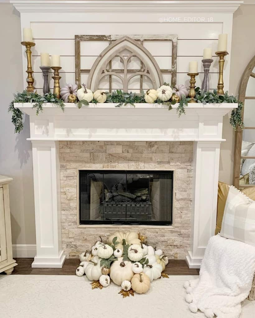 Chriselda French Country Fireplace